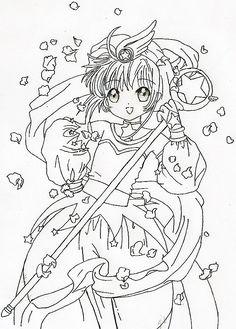 Cardcaptor sakura coloring page coloring pages of for Cardcaptor sakura coloring pages