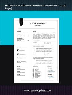 Microsoft Word Resume Template, Modern Resume Template, Creative Resume Templates, Cv Template, Cover Letter For Resume, Cover Letter Template, Cover Letters, Cv Words, Resume Cv