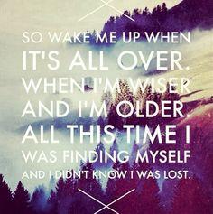 Wake me up lyrics/quote
