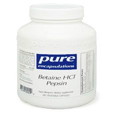 Betaine HCl Pepsin by Pure Encapsulations supports the optimal absorption of nutrients from foods. Gluten and preservative-free. Order online today.