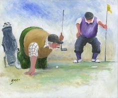 Image of 'Lining Up' Giclee Canvas  by Des Brophy