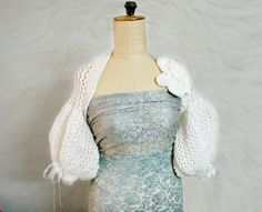 PDF Knitting PATTERN White Puff Sleeve Wedding by PATTERNSbyFAIMA, $4.99