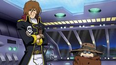 Younger Captain Harlock and Tochiro - Space Symphony Maetel Space Pirate Captain Harlock, Galaxy Express, Space Planets, Anime, Battleship, Manga, Cool Stuff, Fictional Characters, Arcade