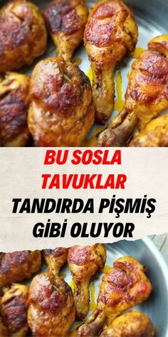 Turkish Recipes, Ethnic Recipes, Great Recipes, Healthy Recipes, Chicken Bites, Pasta, Tandoori Chicken, Main Dishes, Chicken Recipes