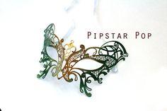 Woodland Gold Green Butterfly Filigree Scroll work by PipStarPop