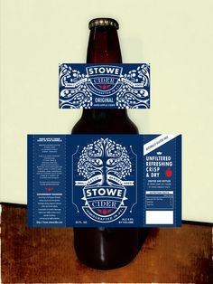 label design for stowe cider by dialfredo