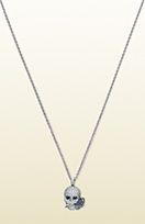 Gucci Flora necklace in white gold, diamonds and sa ...