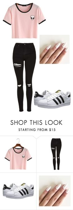 """""""untitled #23"""" by fariha2003 ❤ liked on Polyvore featuring Topshop and adidas Originals"""