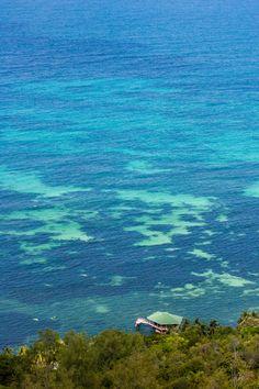 The view from Praslin Island, Seychelles