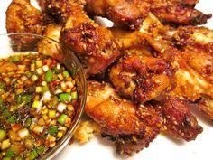 Spicy Koreaanse Kippenvleugels Met Knoflook-soja Dip recept | Smulweb.nl
