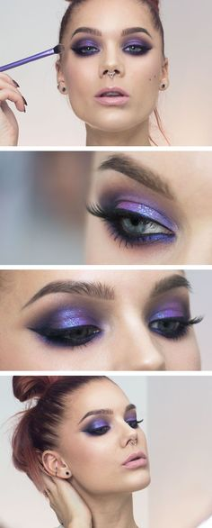 Todays look – Purple glitter #glittereyeshadows