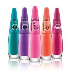 Impala Esmalticon Emoticons, Manicure E Pedicure, Canal E, Nails Inspiration, My Nails, Water Bottle, Nail Polish, Lipstick, Nail Art