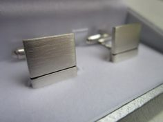 Wedding cufflinks. 1.5mm Square Silver Cufflinks. Various sizes. Thick Mens Sterling Silver Cufflinks. Groom, Best Man Handmade Gift Idea by lisaakatz on Etsy
