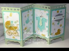 Stampin' Up! Silk Screen/Room Divider Baby Card - YouTube