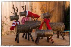 Wir möchten euch diesmal zeigen, wie Ihr knuddelige Rentiere und Elche aus Holz und ein paar Ästen herstellen könnt.