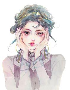 how to draw hands Manga Eyes, Postcard Art, Digital Art Girl, Marker Art, Beautiful Drawings, Anime Art Girl, Art Studies, Chinese Art, Female Art
