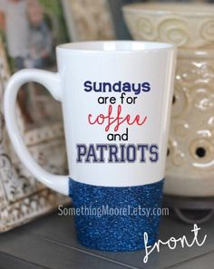 Sundays are for Coffee and Patriots, New England Patriots, Football, Patriots Coffee Mug
