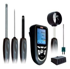 http://www.pjboner.com/products-page/kimo/ami300-multi-function-portable-instrument/ - The AMI300 Multi Function Portable Instrument from PJ Boner. This handheld device offers 6 instruments in 1 device: Thermometer, Manometer, Hygrometer, Anemometer, Air Quality Device & Tachometer.