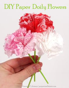 Popper and Mimi Paper Crafts: DIY Paper Doily Flowers