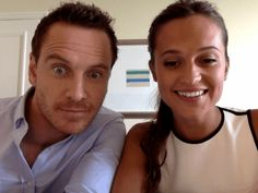 """entertainmentweekly: """" Alicia Vikander and Michael Fassbender are HERE and are answering your questions now! """""""