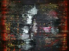Canadian artist Robert Martin abstracts. Title: Closing 30x40x1.5in. In acrylic on canvas. Vancouver Island collection.