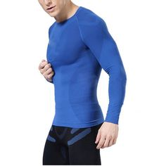 00f43f3978c Mens Compression Under Base Layer Tops Tight Long Sleeve T-Shirts Gear  Newest