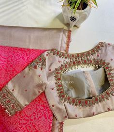 Silk Saree Blouse Designs, Bridal Blouse Designs, Rangoli Border Designs, Kids Gown, Designer Blouse Patterns, Gold Designs, Indian Beauty Saree, Work Blouse, Hand Embroidery