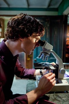 Sherlock and microscope. Still a better love story than Twilight. <--- pinning for the comment. X3