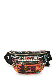 Dutch Wax Fanny Pack | FOREVER 21 - 1000066187 _____ perfect for bike riding.