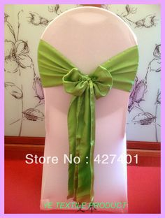 Apple Green Satin Chair Sash For Wedding Event &Party Decoration