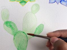 life-athon.com - Easy to follow Succulents Watercolour Tutorials