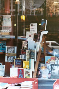 Book Shop Design | Retail Design | Book Display | books displayed on a ladder