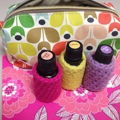 This is a free pattern for 15 ML essential oil bottles. Keeps them from breaking !!