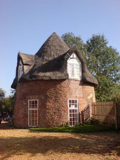 Thatch roof round house