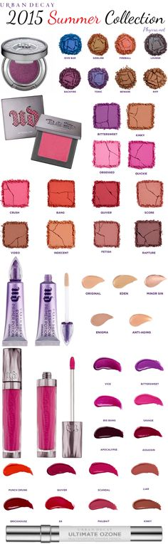 Urban Decay Summer 2015 Collection : Phyrra Beauty for the Bold! Kiss Makeup, Love Makeup, Makeup Tips, Hair Makeup, Makeup Products, Makeup Ideas, Beauty Products, All Things Beauty, Beauty Make Up