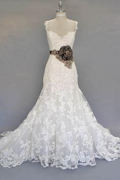 Vintage Wedding Dress live the dress not a fan of the flower