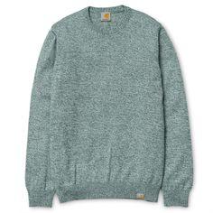 Toss Sweater Bottle Green, Broken White #jersey #modahombre #Parafernalia #CarharttWIP