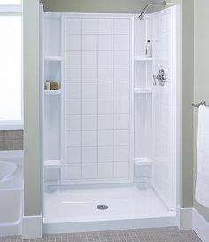 One-Piece Shower Stall Kit by Aquarius Bathware | Bathroom/Shower ...
