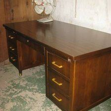 Charming Mid Century Desk Or Credenzas By Indiana Desk Co Pictures Gallery