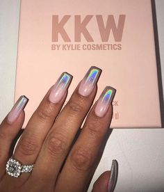 Irridescent nails. #holographicnails