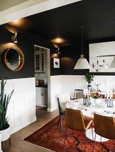 Modern Dining Room Design Ideas - We have actually obtained inspo for days to aid obtain you started, whether you're seeking modern ideas in dining-room decor, furnishings, wall art, and also extra. Black Dining Room Furniture, Dining Room Walls, Dining Room Sets, Dining Room Design, Furniture Decor, Living Room, Dining Tables, Oval Table, Furniture Storage