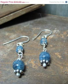 50% OFF Sale going on NOW in our Etsy Shop! This great earrings are only $5 right now! CRAZY!!! https://www.etsy.com/shop/hoitytoitydesigns?ref=si_shop ON SALE  Kyanite Dangle Earrings Gifts by hoitytoitydesigns, $5.00