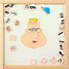 The Funny Face Wall Activity Toy will encourage creative play amongst children of all ages. Therapist can use this toy to help with therapy as well.  #waitingroom #funnyfacepanel #waitingroomdecor  http://www.sensoryedge.com/funny-face-wall-activity-toy.html