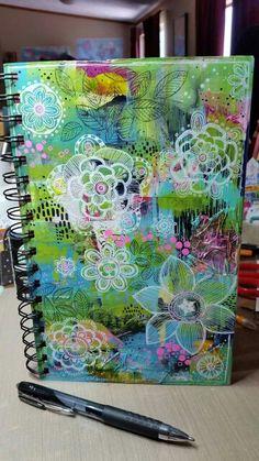 Sketchbook cover, art journal pages, art journal covers, art journals Art Journal Pages, Journal Covers, Art Journals, Inspiration Drawing, Art Journal Inspiration, Journal Ideas, Journal Prompts, Design Floral, Deco Design
