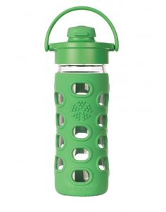 Botella Lifefactory Flip Cap Verde 350 ml