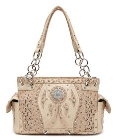 Another great find on #zulily! Tan Western Necktie  Satchel #zulilyfinds