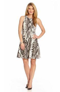 974428d46af Karen Kane Snakeskin Print Scuba Knit A-Line Dress available at  Nordstrom  Scuba Dress