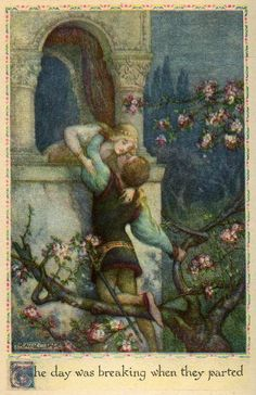 The Art of Narrative - Frank Cheyne Papé ~ Romeo and Juliet ~ Tales from Shakspeare (title as published) ~ 1923 ~ via