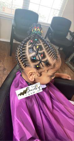 Little Girl Braid Styles, Kid Braid Styles, Little Girl Braids, Braids For Kids, Toddler Braids, Hair Styles, Black Baby Girl Hairstyles, Little Girls Natural Hairstyles, Toddler Braided Hairstyles