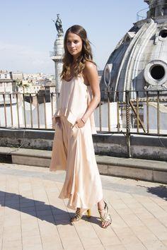 Romanticismo en rosa empolvado Stella McCartney